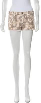 Michael Kors Zebra Mini Shorts white Zebra Mini Shorts
