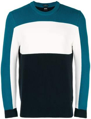 HUGO BOSS colour block jumper