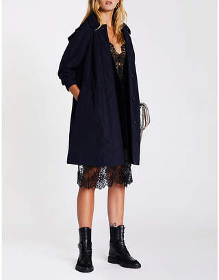 Burberry Tringford hooded shell trench coat