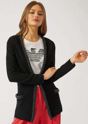 Emporio Armani Cardigan With Sequin Trim