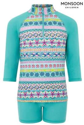 Next Girls Monsoon Turquoise Ria Sunsafe Surfsuit