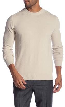 Ben Sherman Chevron Texture Crew Neck Sweater