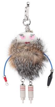 Prada Fur bag charm