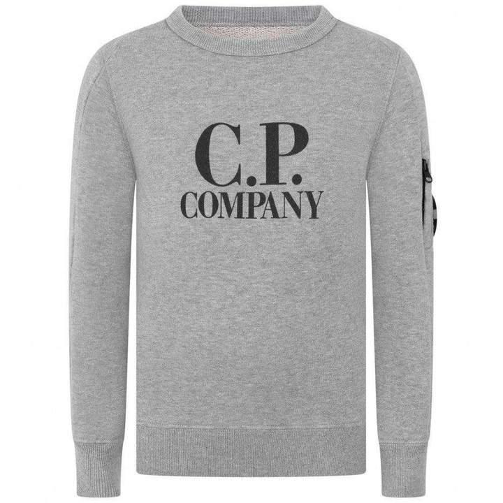 C.P. CompanyBoys Grey Logo Sweater
