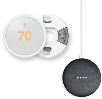 Nest Thermostat E + Google Home Mini Bundle