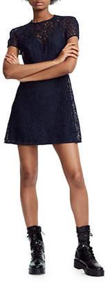 Maje Repiz Lace T-Shirt Dress