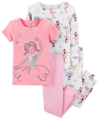 Carter's 4pc Ballerina Pajama Set -Toddler Girl