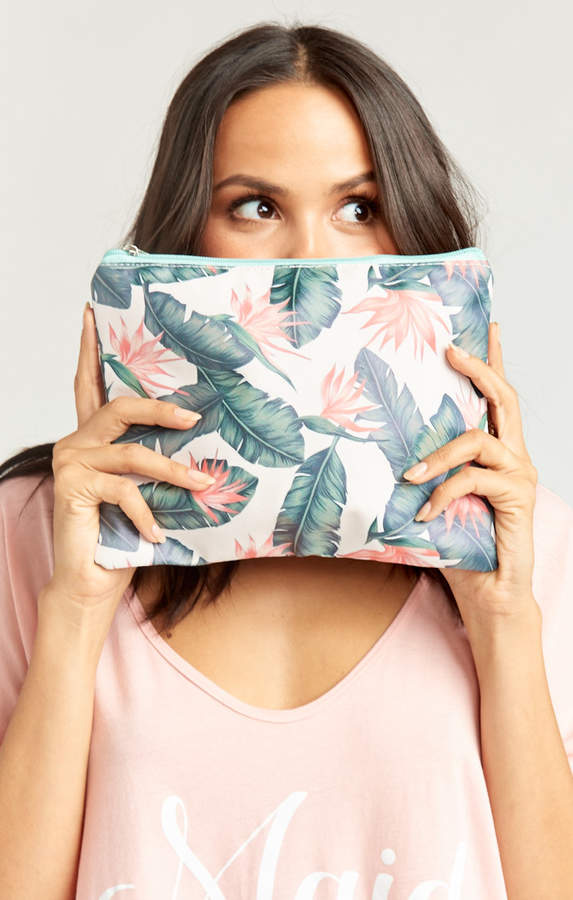 Show Me Your Mumu Kauai Kisses Makeup Bag ~ Peach