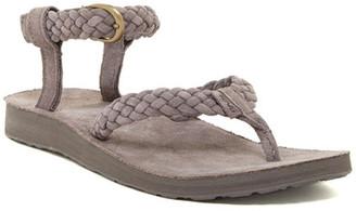 Teva Original Suede Braid Thong Sandal $80 thestylecure.com
