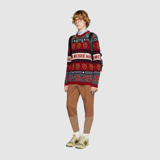Gucci Symbols wool jacquard sweater
