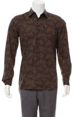 Prada French Cuff Printed Shirt