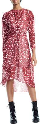 Maje Twist Front High/Low Dress