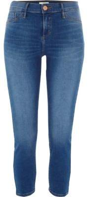 River Island Petite blue Molly mid rise jeggings