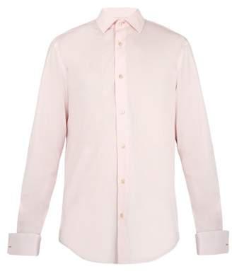 Pink Slim-fit Cotton-poplin Shirt - PinkPaul Smith Vente Bas Prix Pas Cher Livraison Gratuite Site Officiel Dernières Collections De Dédouanement jEzEerjI