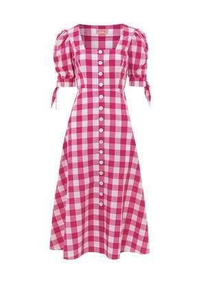 Kitri Lenora Check Midi Dress