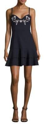 Dara Bustier Embroidered Dress