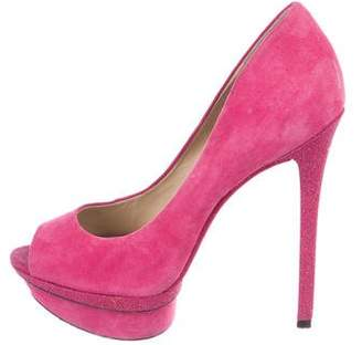 Brian Atwood Suede Florencia Pumps