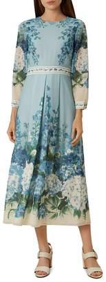 Hobbs London Hydrangea Midi Dress