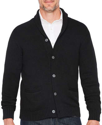 Claiborne Shawl Collar Long Sleeve Cardigan
