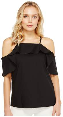 Calvin Klein Halter with Ruffle Sleeve Women's Clothing