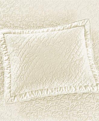 Martha Stewart Collection Cotton Flowering Trellis Ivory Standard Sham