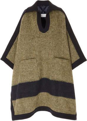 Maison Margiela Oversized Poncho Wool-Blend Coat Size: 42