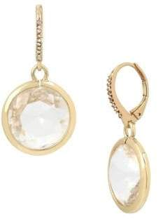 Miriam Haskell Basic Ears Crystal Drop Earrings