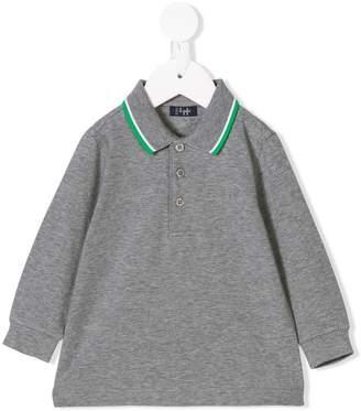 Il Gufo striped trim polo shirt