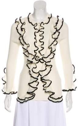 Alexander McQueen Wool Ruffle-Trimmed Cardigan