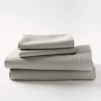 west elm Belgian Linen Sheet Set - Platinum