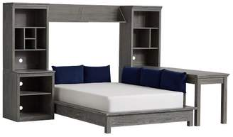 Pottery Barn Teen Stuff-Your-Stuff Platform Bed Super Set (Bed, Towers, Shelves + Desk), Full, WB Smoked Charcoal