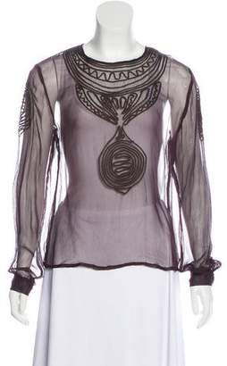 Antik Batik Embroidered Crepe Blouse w/ Tags