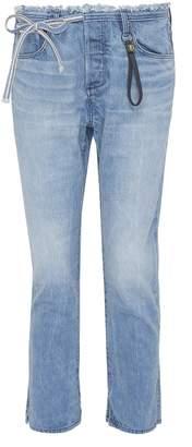 Tortoise Denim 'Tufa' colourblock patch pocket tie jeans