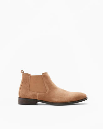 Express Brown Genuine Suede Chelsea Boot