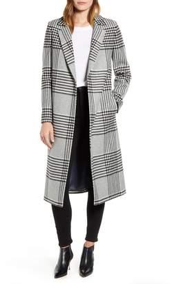 Ted Baker Celinna Plaid Wool Blend Long Coat