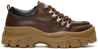 MSGM Brown Chunky Double Sole Sneakers