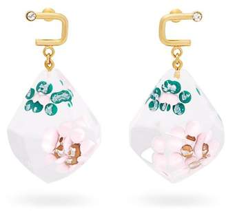 Marni Floral Drop Earrings - Womens - Pink