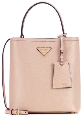 Prada Panier Medium leather shoulder bag