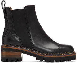See by Chloe Black Mallory Boots