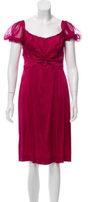 Alberta Ferretti Silk Knee-Length Dress w/ Tags