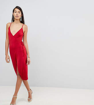 Asos Tall TALL Sexy Wrap Midi Bodycon Dress