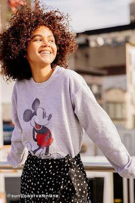 Urban Outfitters Mickey Mouse Pullover Sweatshirt