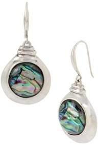 Robert Lee Morris Collection Abalone Disc Drop Earrings