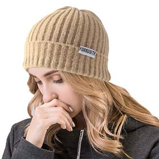5f93d6d8d7e Ruphedy Woens Cuffed Beanie Hats Winter Unisex Slouchy Knit Ski Skull Cap  B096