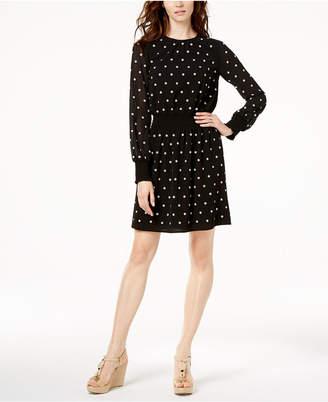 Michael Kors MICHAEL Floral-Embellished Dress
