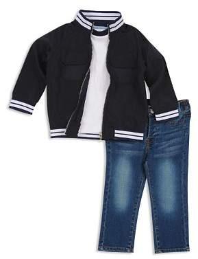 7 For All Mankind Boys' Varsity Zip Jacket, Tee & Jeans Set - Baby