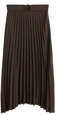 MANGO Pleated chiffon skirt