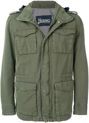 e535ab4a1 Green Military Drawstring Jacket Men - ShopStyle