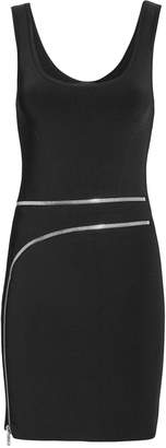 Alexander Wang Curved Zip Detail Black Dress