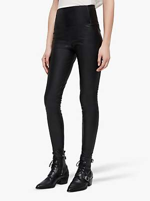 04ec5b177c AllSaints Cora Leather-Look Leggings, Black